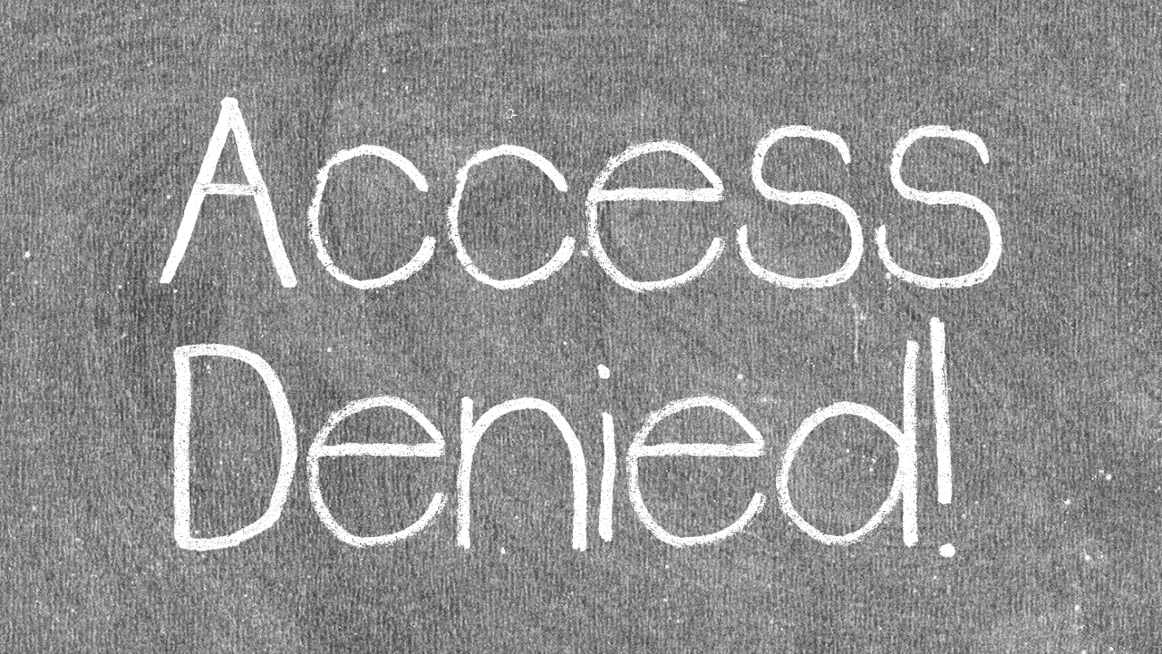 Access To Education Denied
